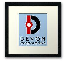 Devon Corporation Logo (in Black) Framed Print