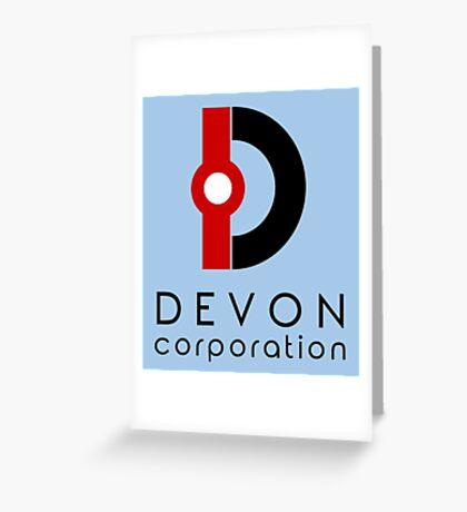 Devon Corporation Logo (in Black) Greeting Card