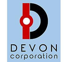 Devon Corporation Logo (in Black) Photographic Print