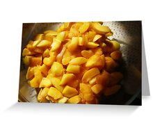 'GOLDEN YUMMY APRICOTS!' from garden. Greeting Card