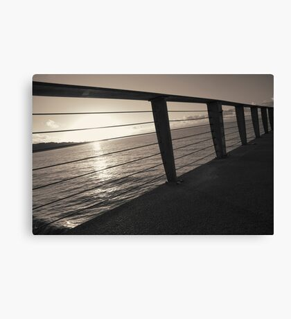 Sunrise On Pier Canvas Print