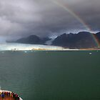 Rainbow over Amalia glacier II by Robyn Lakeman