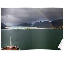 Rainbow over Amalia glacier II Poster