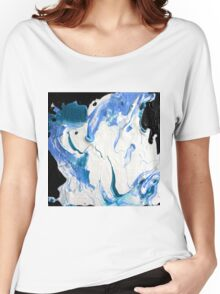 Blue, Black & White  Women's Relaxed Fit T-Shirt