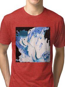 Blue, Black & White  Tri-blend T-Shirt