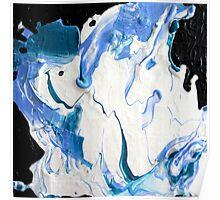Blue, Black & White  Poster