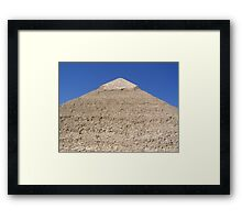 Ancient Monument Khafre Pyramid in Giza Cairo Africa Framed Print