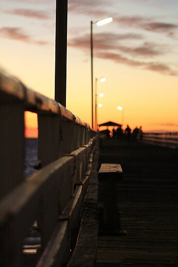 Looking Down The Jetty by Amy Dee