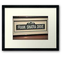 FRAMED STREET SIGN FRANK SINATRA DRIVE PALM SPRINGS Framed Print