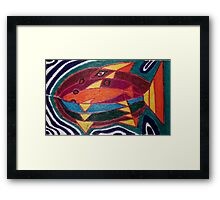 Dali fish - original work on soft wood Framed Print