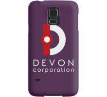 Devon Corporation Logo (in White) Samsung Galaxy Case/Skin