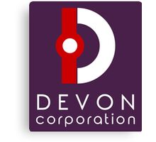 Devon Corporation Logo (in White) Canvas Print
