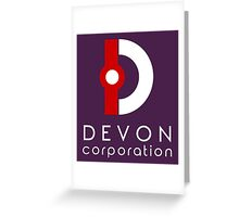 Devon Corporation Logo (in White) Greeting Card