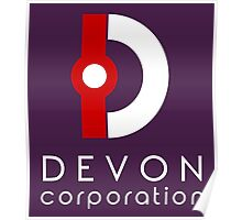 Devon Corporation Logo (in White) Poster