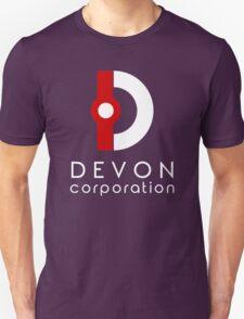 Devon Corporation Logo (in White) Unisex T-Shirt