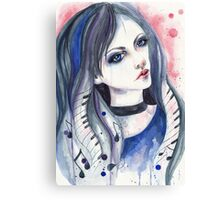 Music girl Canvas Print