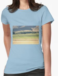 Alfalfa Field in Montana Womens Fitted T-Shirt