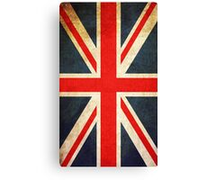 Vintage Union Jack British Flag Canvas Print