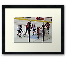 Washington Capitals vs. Florida Panthers: First Goal by Caps Framed Print