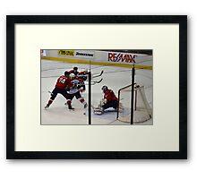 Washington Capitals: Varlamov Protects his Goal Framed Print
