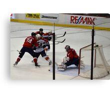 Washington Capitals: Varlamov Protects his Goal Canvas Print