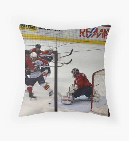 Washington Capitals: Varlamov Protects his Goal Throw Pillow