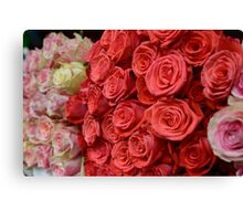 Bouquet of roses. Canvas Print
