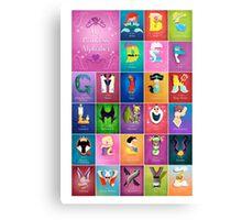 My Princess Alphabet Canvas Print