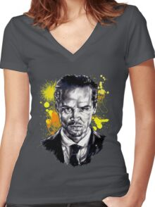 Jim Moriarty + paint Women's Fitted V-Neck T-Shirt