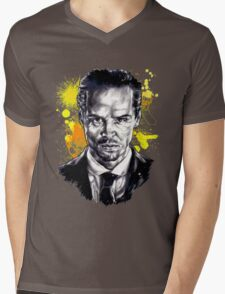 Jim Moriarty + paint Mens V-Neck T-Shirt