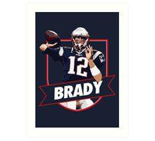 Tom Brady - Patriots Art Print
