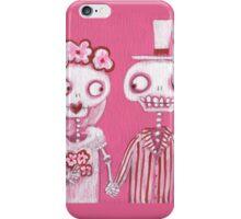 Pink Skelly Bride and Groom iPhone Case/Skin