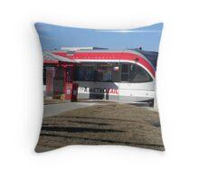 Austin's New Metrorail - Red Blur, Silver Streak Throw Pillow
