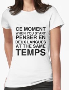 CE MOMENT  Womens Fitted T-Shirt