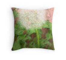 Dandelion Fractal Throw Pillow