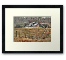 Another Old Barn in Homer Georgia Framed Print
