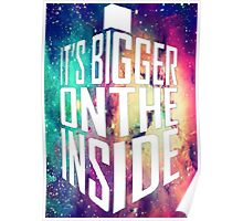 Bigger on the inside - Light Poster