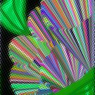 Psychedelic Trumpet Plant Under Glass by Charldia