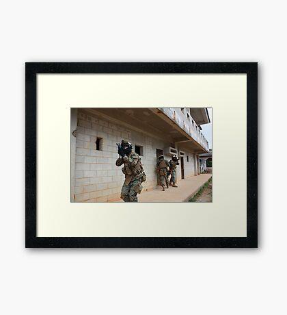Marines in Urban Warfare training  Framed Print