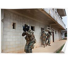 Marines in Urban Warfare training  Poster