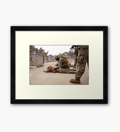 Searching role-players Framed Print