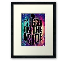 Bigger on the inside - Dark Framed Print