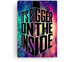 Bigger on the inside - Dark Canvas Print