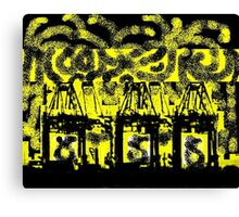 """Mobile Yellow"" Canvas Print"