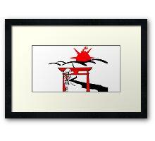 Samurai L. Framed Print