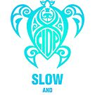 CIDP Green Blue Slow & Steady Turtle by turnerstokens