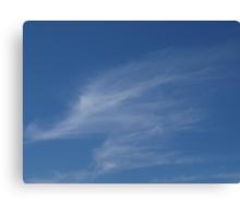 Wispy gryphon cloud Canvas Print