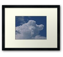 Old father time riding in the clouds Framed Print