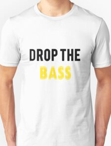 Drop The Bass: Yellow and Black T-Shirt