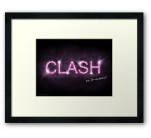 Clash On Broadway Framed Print